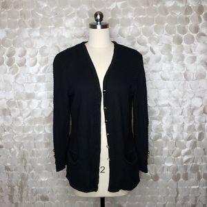 Escada Logo button wool Cardigan sweater Sz 40